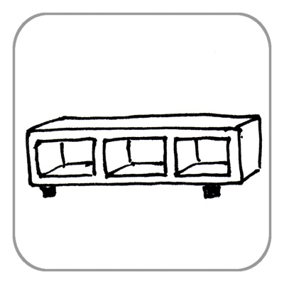 Lowboard bis 2 m