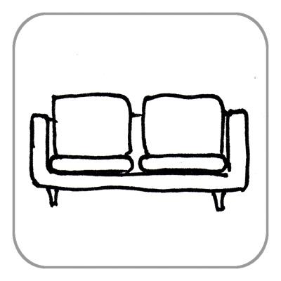 Sofa/Couch/Liege, je Sitz
