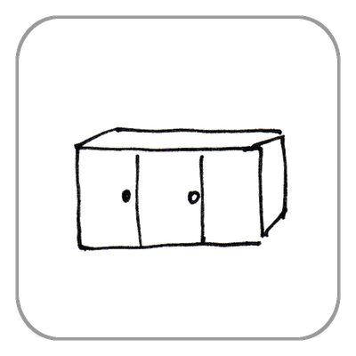 Sideboard klein
