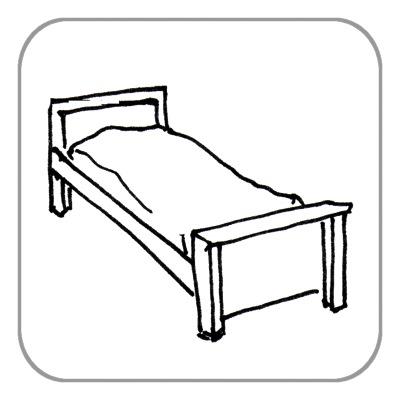 Bett, komplett