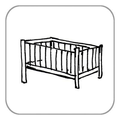 Kinderbett, komplett