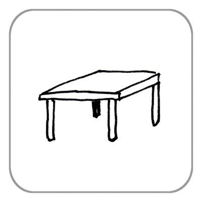 Tisch, bis 1,0 m