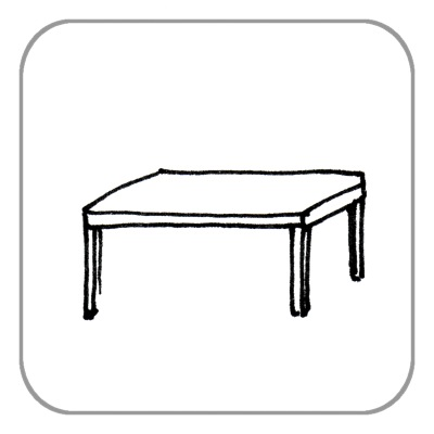 Tisch, über 1,0 m
