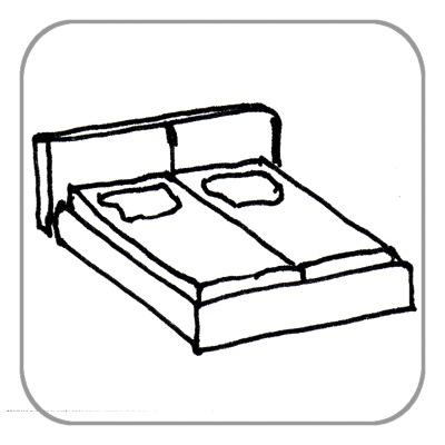 Franz. Bett, komplett