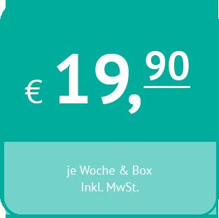 wöchentlicher Mietpreis pro Box